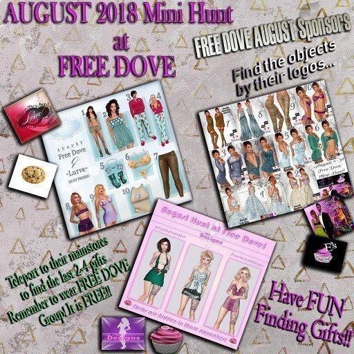 Free Dove Mini Hunt August Main Banner