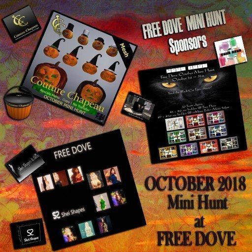 Free Dove Mini Hunt October Main Banner